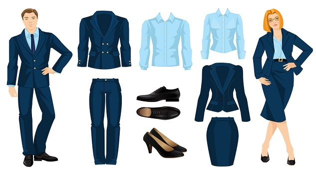 office staff uniform color combinations